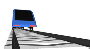 Vector blue Fast train on white Royalty Free Stock Photography