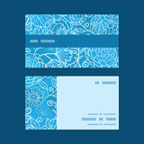 Vector blue field floral texture horizontal stripe Stock Image