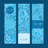 Vector blue field floral texture vertical banners Stock Image