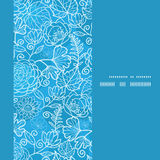 Vector blue field floral texture vertical frame Royalty Free Stock Image