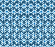 Vector blue floral seamless pattern Stock Images