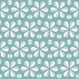 Vector blue floral seamless pattern, vintage background Royalty Free Stock Photo