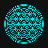 Vector Blue Flower of Life Symbol Illustration. Vector Blue Flower of Life Symbol Royalty Free Stock Photo