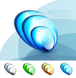 Vector blue fluid concept Stock Photography
