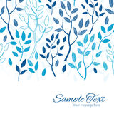 Vector blue forest horizontal border card template Royalty Free Stock Image