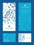 Vector blue forest vertical frame pattern royalty free illustration