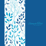 Vector Blue Forest Vertical Frame Seamless Pattern Royalty Free Stock Photo