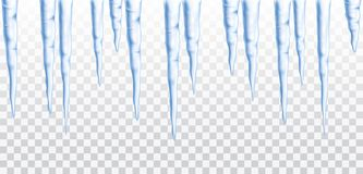 Free Vector Blue Frozen Icicle Seamless Border Isolated On Transparent Background Royalty Free Stock Photo - 126094915