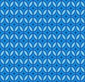 Vector blue geometric seamless pattern Stock Image