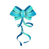 Vector  Blue Gift Bow Royalty Free Stock Photography