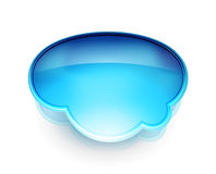 Vector blue glossy speech bubble Royalty Free Stock Images