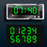 Vector blue glowing digital numbers Stock Images