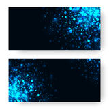 Vector blue glowing light glitter background. Magic glow light effect. Royalty Free Stock Photography