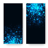 Vector blue glowing light glitter background. Magic glow light effect. Star burst with sparkles on dark background Royalty Free Stock Image