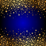 Luxury background. Vector blue and gold luxury background Stock Photography