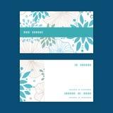 Vector blue and gray plants horizontal stripe Stock Photo