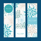 Vector blue and gray plants vertical banners set Stock Photos