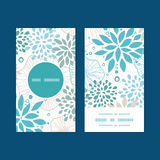 Vector blue and gray plants vertical round frame Royalty Free Stock Photography