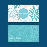 Vector blue and gray plants vertical round frame Royalty Free Stock Photos