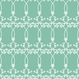 Vector blue green arabesques seamless pattern background. Perfect for fabric, scrapbooking, wallpaper and backgrounds royalty free illustration