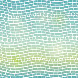 Vector Blue Green Gradient Abstract Geometric Waves Seamless Pattern Background. Stock Photos