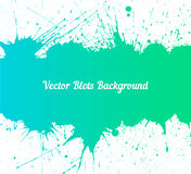 Vector blue green ink splashes over white Royalty Free Stock Image