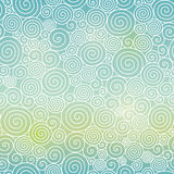 Vector Blue Green Sky Gradient Abstract Swirls Seamless Pattern Background. Great for elegant texture fabric, cards Royalty Free Stock Images