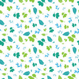 Vector Blue Green Spring Leaves Silhouettes Royalty Free Stock Photo