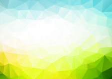 Vector blue green triangles background Stock Photography