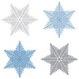 Vector blue and grey snowflakes. Stock Photography