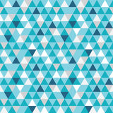 Vector blue and grey triangles texture seamless repeat pattern  Stock Photography