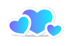 Vector blue heart. Icon. Royalty Free Stock Photos