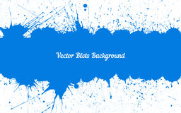 Vector blue ink splashes with space for text over white Royalty Free Stock Photo