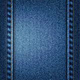 Vector blue jeans texture illustration Royalty Free Stock Image