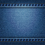 Vector blue jeans texture illustration Royalty Free Stock Photo