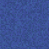 Vector blue knitted seamless pattern Stock Image