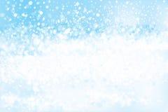 Vector blue, lights, bokeh background. Stock Photo
