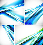 Vector blue line backgrounds Stock Photos