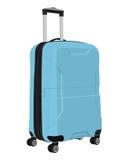 Vector blue luggage bag Royalty Free Stock Photos