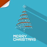 Vector Blue Merry Christmas Background Stock Photography