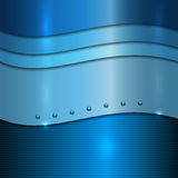Vector blue metal background Stock Image