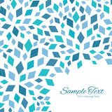 Vector blue mosaic texture frame corner pattern Stock Images