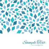 Vector blue mosaic texture horizontal border card Stock Photo