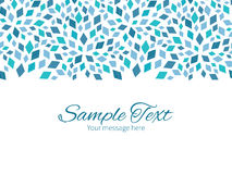 Vector blue mosaic texture horizontal border Stock Photos