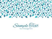 Vector blue mosaic texture horizontal border Stock Photos