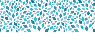Vector blue mosaic texture horizontal border Stock Photo