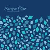 Vector Blue Mosaic Texture Horizontal Frame Stock Image