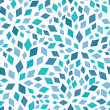 Vector blue mosaic texture seamless pattern Royalty Free Stock Images