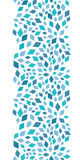 Vector blue mosaic texture vertical border Stock Image