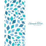 Vector blue mosaic texture vertical frame seamless Royalty Free Stock Images